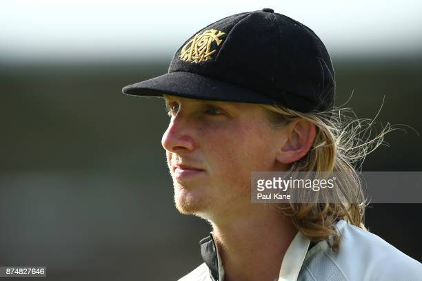 David Moody of Western Australia looks on while fielding during day four of the Sheffield Shield match between Western Australia and South Australia...