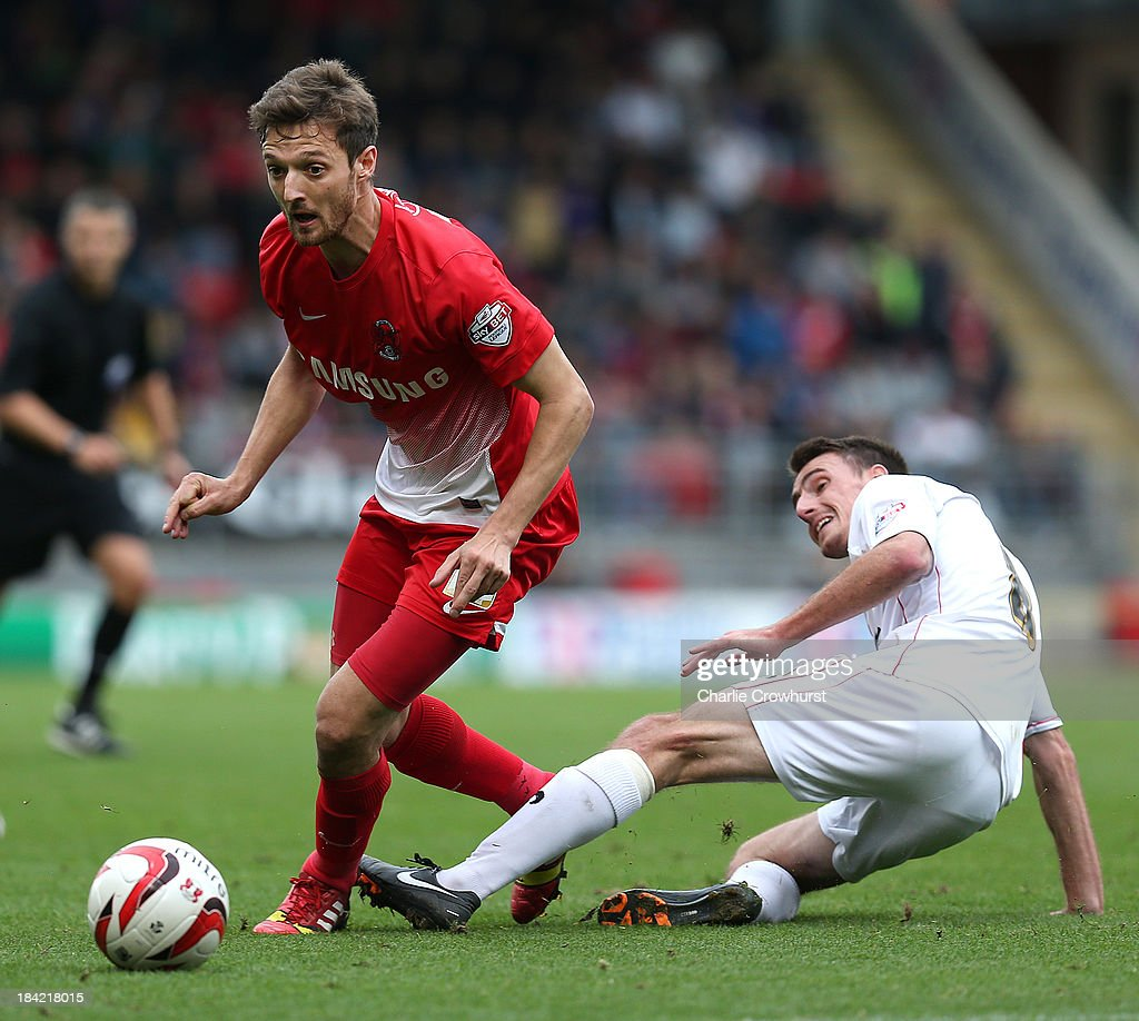 David Mooney of Leyton Orient looks to attack during the Sky Bet League One match between Leyton Orient and MK Dons at The Matchroom Stadium on October 12, 2013 in London, England.