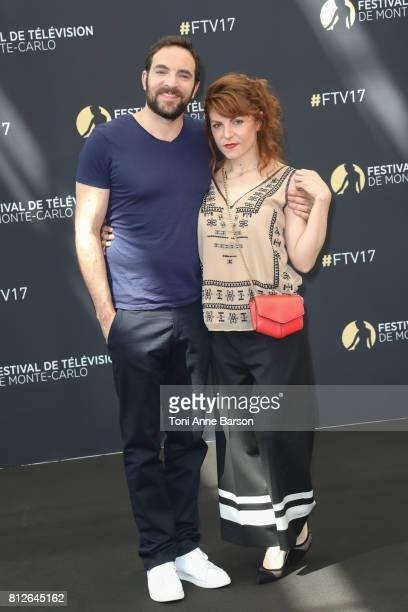 David Mora and AnneElisabeth Blateau attend photocall for 'Scenes de Menages' on June 17 2017 at the Grimaldi Forum in MonteCarlo Monaco