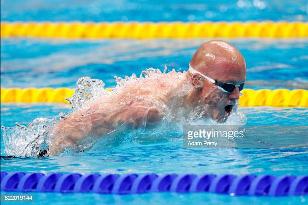 David Morgan of Australia competes during the Men's 200m Butterfly Heats on day twelve of the Budapest 2017 FINA World Championships on July 25 2017...