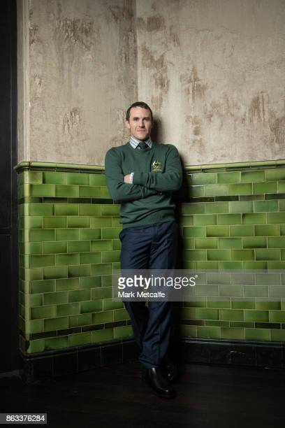 David Morris poses ahead of the Australian Olympic Committee 2018 Winter Olympic Games uniform launch at The Palisade Hotel on October 20 2017 in...