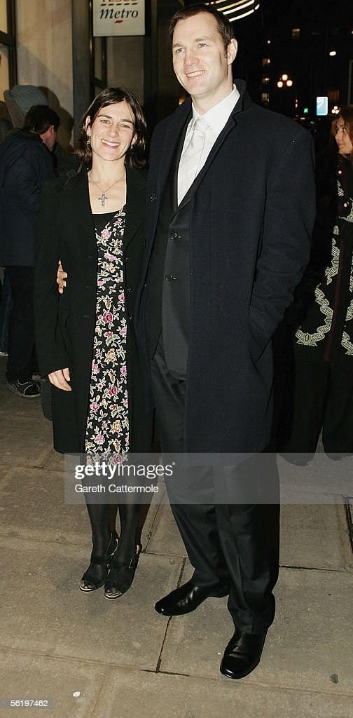 David Morrissey and wife Esther Freud arrive at the UK Premiere of ?Stoned? at the Apollo West End Cinema on November 17, 2005 in London, England. The British film chronicles the life and death of Rolling Stones co-founder Brian Jones, found drowned just weeks after being released from the band.