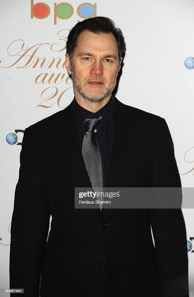 David Morrissey attends the Broadcasting Press Guild TV and Radio awards on March 14, 2013 in London, England.