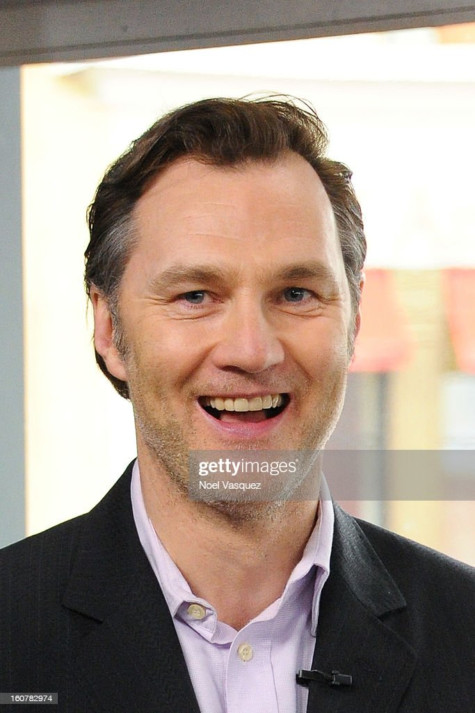 <a gi-track='captionPersonalityLinkClicked' href=/galleries/search?phrase=David+Morrissey&family=editorial&specificpeople=220896 ng-click='$event.stopPropagation()'>David Morrissey</a> visits Extra at The Grove on February 5, 2013 in Los Angeles, California.