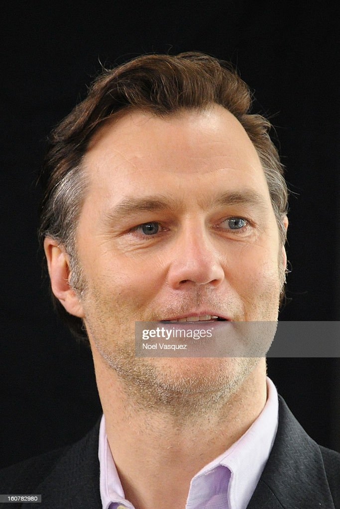 David Morrissey visits Extra at The Grove on February 5, 2013 in Los Angeles, California.