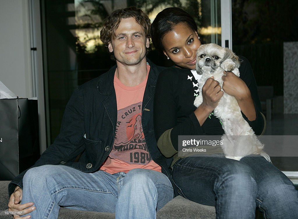 David Moscow and Kerry Washington during French Connection Fall Fashion Preview at Private Residence in Los Angeles California United States