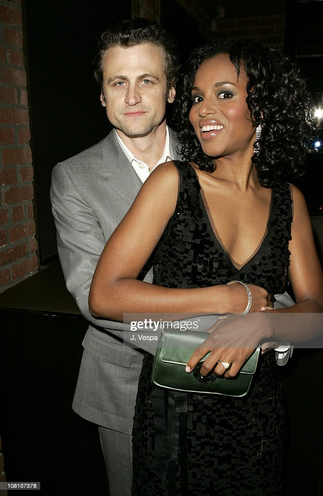 David Moscow and Kerry Washington during GQ Magazine Celebrates its 2004 Men of the Year Dinner at Lucques Restaurant in Los Angeles California...