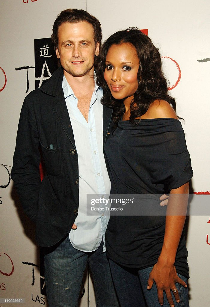 David Moscow and Kerry Washington during Raven Symone's 21st Birthday Diner at Tao Asian Bistro at The Venetian Hotel and Casino Resort at Tao Asian...