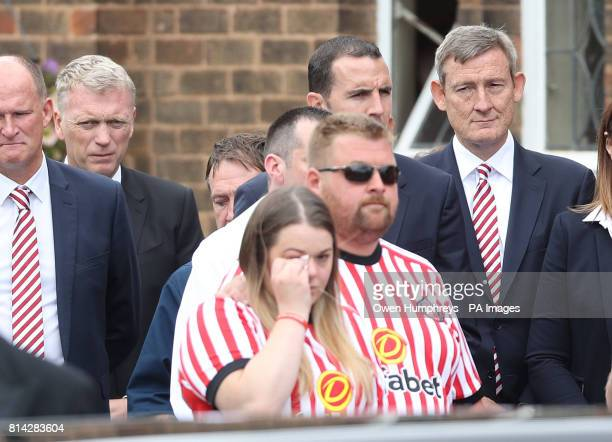 David Moyes and Ellis Short outside St Joseph's Church in Blackhall County Durham where the funeral of Bradley Lowery the sixyearold football mascot...