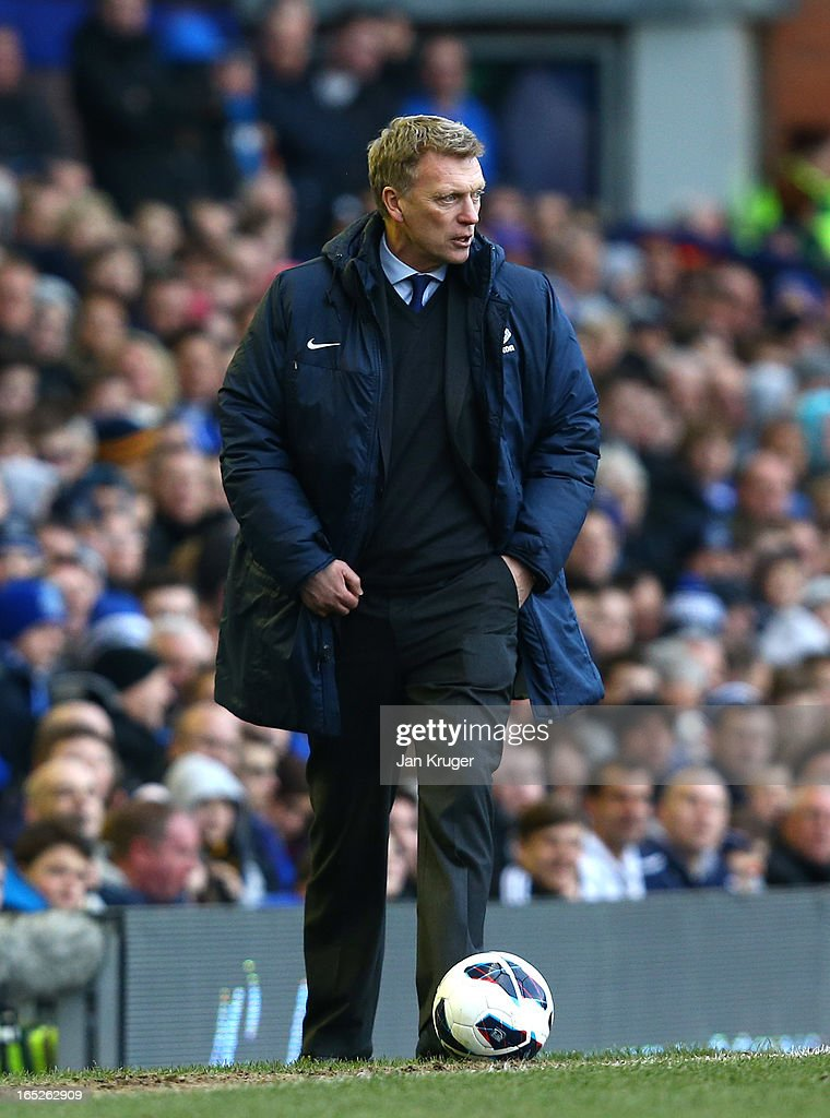 <a gi-track='captionPersonalityLinkClicked' href=/galleries/search?phrase=David+Moyes&family=editorial&specificpeople=215482 ng-click='$event.stopPropagation()'>David Moyes</a>, Manager of Everton looks on during the Barclays Premier League match between Everton and Stoke City at Goodison Park on March 30, 2013 in Liverpool, England.