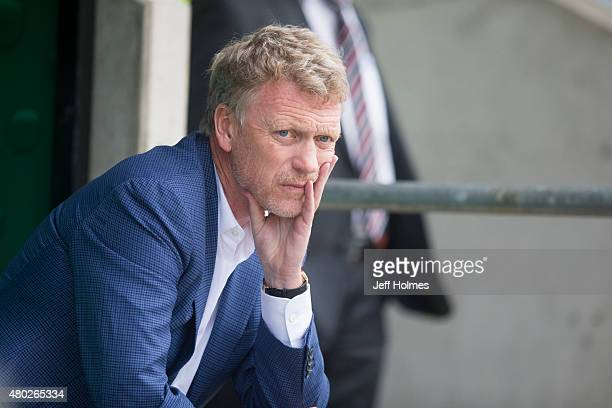 David Moyes manager of Real Sociedad at the Pre Season Friendly between Celtic and Real Sociedad at St Mirren Park on July 10th 2015 in Paisley...