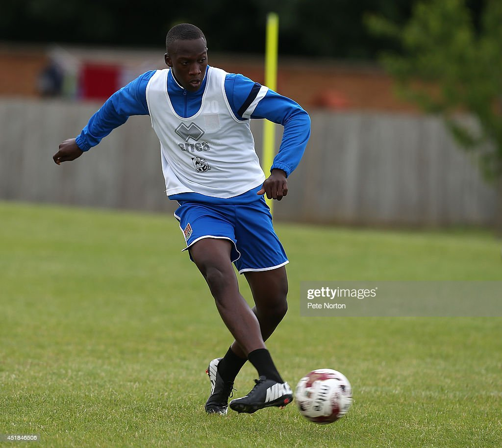 David Moyo of Northampton Town in action during a training session at Moulton College on July 8, 2014 in Northampton, United Kingdom.