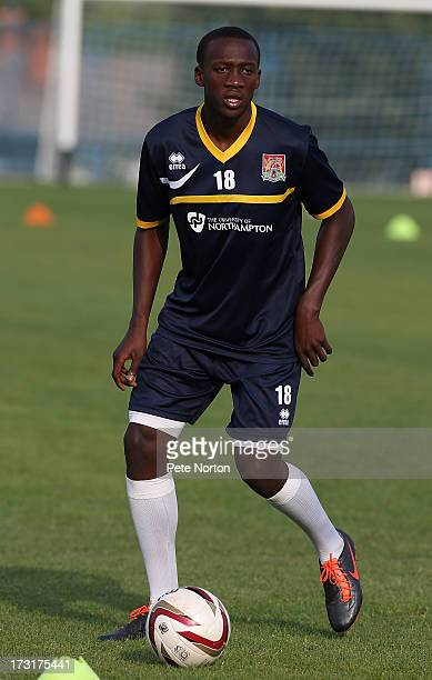 David Moyo of Northampton Town in action during a training session during PreSeason Training on July 3 2013 in Novigrad Croatia