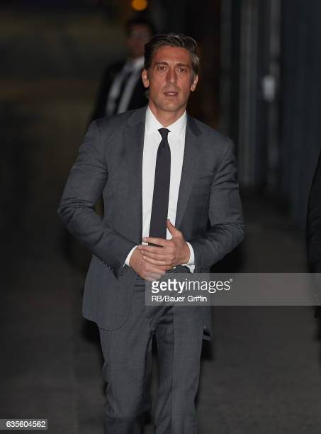 David Muir is seen at 'Jimmy Kimmel Live' on February 15 2017 in Los Angeles California
