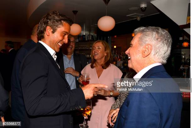 David Muir Laurie Gelman and Regis Philbin attend Michael Gelman Celebrates The Launch Of CLASS MOM A Novel By Laurie Gelman at Loi Estiatorio on...