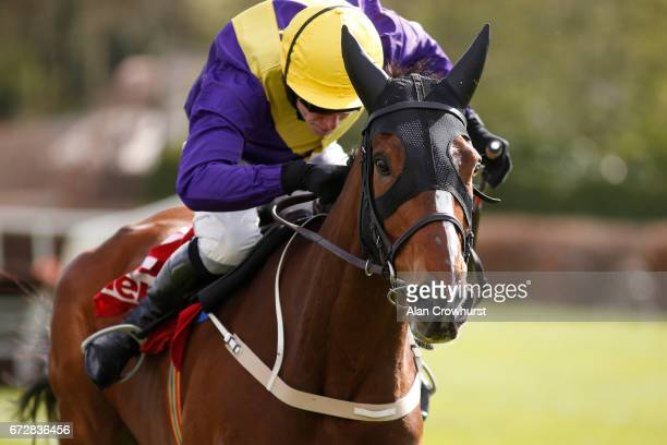 David Mullins riding Cilaos Emery clear the last to win The Herald Champion Novice Hurdle at Punchestown racecourse on April 25 2017 in Naas Ireland