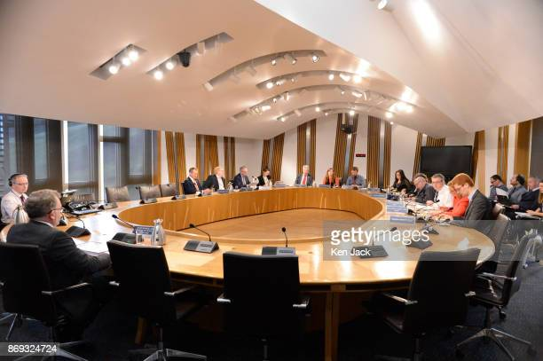 David Mundell Secretary of State for Scotland in the UK Government is questioned on Brexit progress by the Scottish Parliament's Culture Tourism...