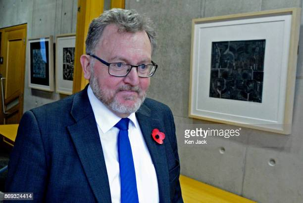 David Mundell Secretary of State for Scotland in the UK Government arrives to give evidence on Brexit progress to the Scottish Parliament's Culture...
