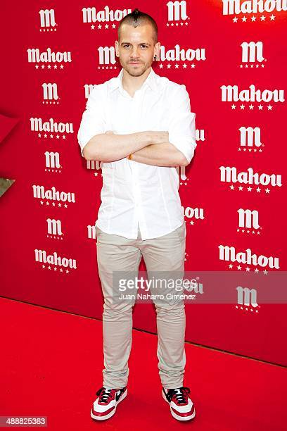 David Munoz attends new campaign 'Descubre Que Bien Sabe Ser De Mahou' presentation at MedialabPadro Madrid on May 8 2014 in Madrid Spain