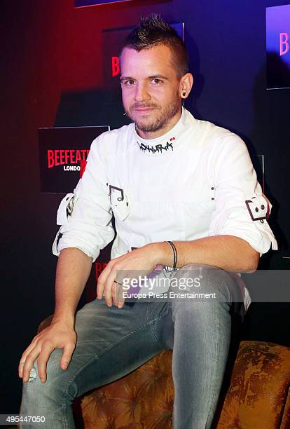 David Munoz chef of 'Diverxo' restaurant presents Beefeater Xo on November 2 2015 in Madrid Spain