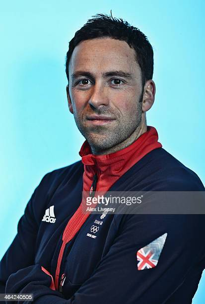 David Murdoch of Team GB Men's Curling poses for a portrait during the kitting out day at adidas on January 21 2014 in Stockport England