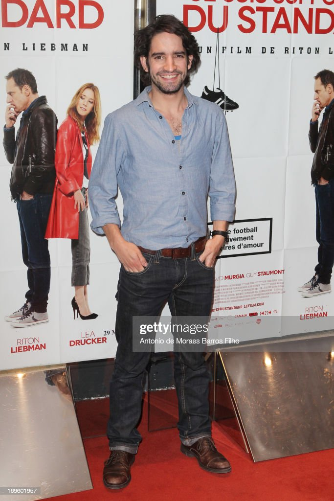 David Murgia attends the 'Je Suis Supporter Du Standard' Premiere at UGC Cine Cite des Halles on May 28, 2013 in Paris, France.