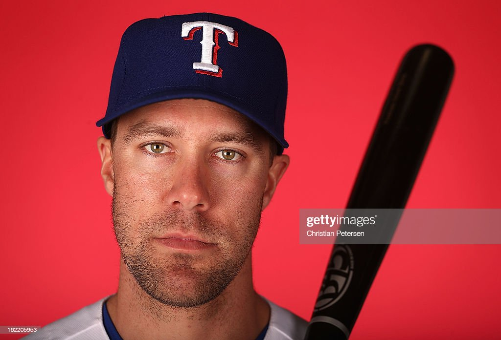 David Murphy #7 of the Texas Rangers poses for a portrait during spring training photo day at Surprise Stadium on February 20, 2013 in Surprise, Arizona.