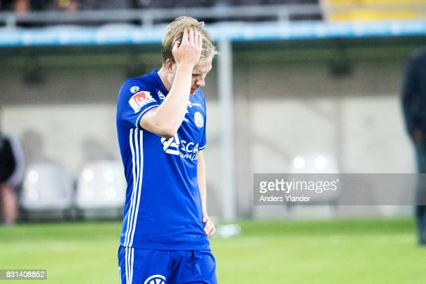 David Myrestam of GIF Sundsvall looks dejected after his team's defeat in the Allsvenskan match between BK Hacken and GIF Sundsvall at Bravida Arena...
