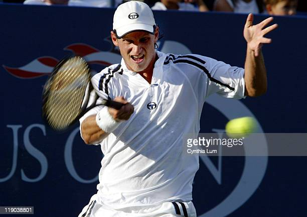 David Nalbandian advances into the fourth round at 2003 US Open in Queens New York Nalbandian defeated Mark Philippoussis 75 67 63 62