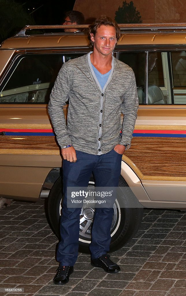 David Nalbandian arrives for a player's party at the IW Club on March 7, 2013 in Indian Wells, California.