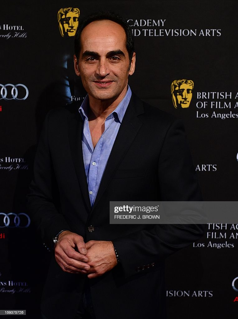 David Negahban poses on arrival for the British Academy of Film and Television Arts (BAFTA) Los Angeles Awards Season Tea Party on January 12, 2013 in Beverly Hills, California. AFP PHOTO / Frederic J. BROWN