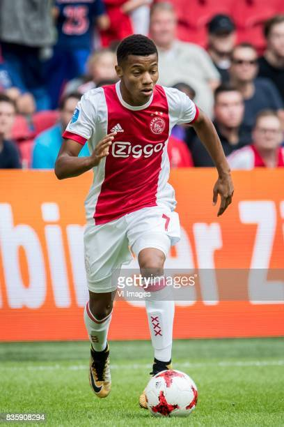 David Neres of Ajax during the Dutch Eredivisie match between Ajax Amsterdam and FC Groningen at the Amsterdam Arena on August 20 2017 in Amsterdam...