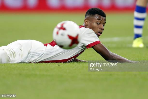 David Neres of Ajax during the Dutch Eredivisie match between Ajax Amsterdam and PEC Zwolle at the Amsterdam Arena on September 09 2017 in Amsterdam...