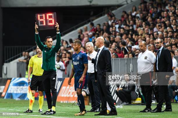 David Neres of Ajax during the UEFA Champions League Qualifying match between Nice and Ajax Amsterdam at Allianz Riviera Stadium on July 26 2017 in...