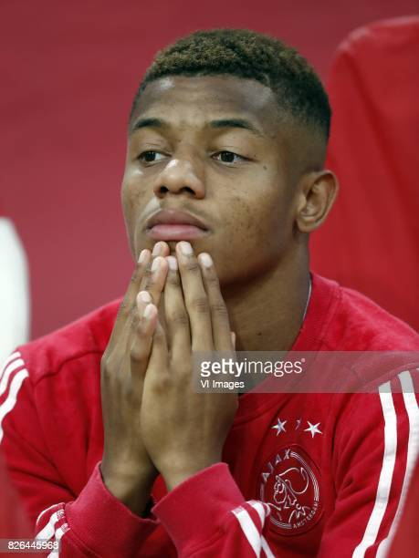David Neres of Ajax during the UEFA Champions League third round qualifying first leg match between Ajax Amsterdam and OGC Nice at the Amsterdam...