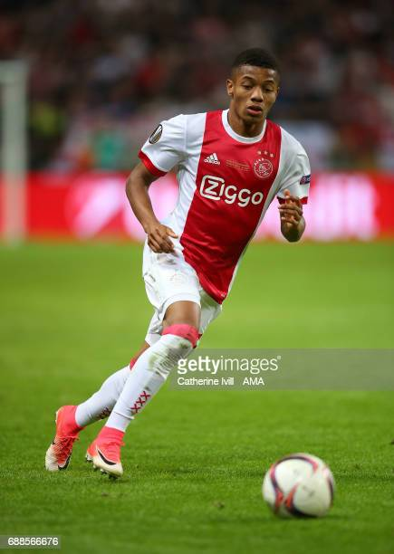 David Neres of Ajax during the UEFA Europa League Final match between Ajax and Manchester United at Friends Arena on May 24 2017 in Stockholm Sweden