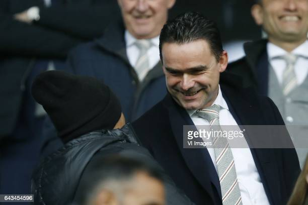 David Neres of Ajax technical director Marc Overmars of Ajaxduring the Dutch Eredivisie match between Vitesse Arnhem and Ajax Amsterdam at Gelredome...