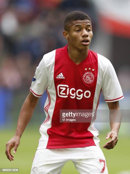 David Neres of Ajaxduring the Dutch Eredivisie match between Ajax Amsterdam and sc Heerenveen at the Amsterdam Arena on April 16 2017 in Amsterdam...