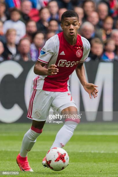 David Neres of Ajaxduring the Dutch Eredivisie match between Ajax Amsterdam and Go Ahead Eagles at the Amsterdam Arena on May 07 2017 in Amsterdam...