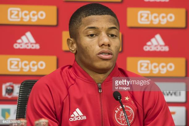 David Neres of Ajaxduring the press presentation of David Neres at the Amsterdam Arena on February 17 2017 in Amsterdam The Netherlands