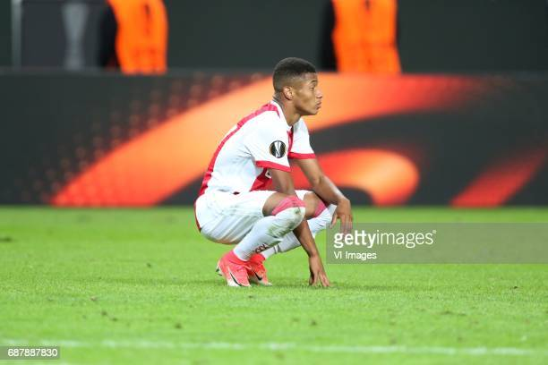 David Neres of Ajaxduring the UEFA Europa League final match between Ajax Amsterdam and Manchester United at the Friends Arena on May 24 2017 in...
