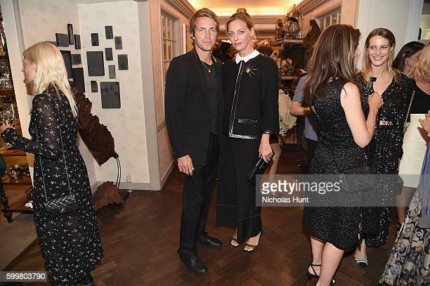 David Neville and Jessica Diehl attend the CHANEL Fine Jewelry Dinner in honor of Keira Knightley at The Jewel Box Bergdorf Goodman on September 6...