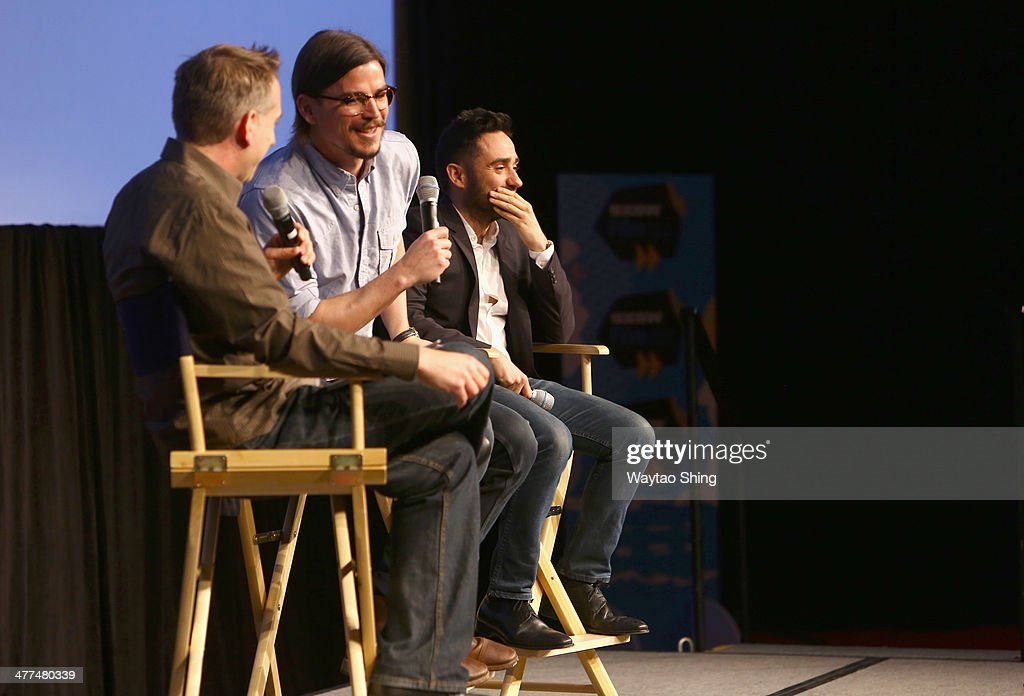 David Nevins, President of Entertainment of Showtime Networks Inc., actor Josh Hartnett and director Juan Antonio Bayona speak onstage at 'Penny Dreadful' during the 2014 SXSW Music, Film + Interactive Festival at Austin Convention Center on March 9, 2014 in Austin, Texas.