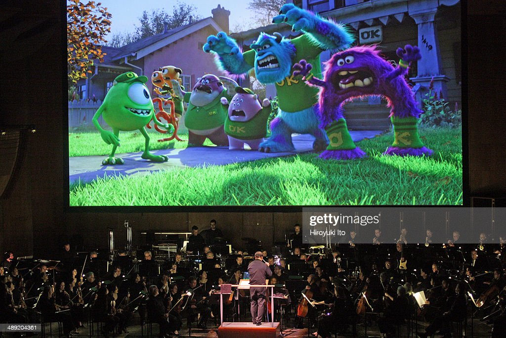 David Newman leads the New York Philharmonic in 'Pixar in Concert' at Avery Fisher Hall on Thursday night May 1 2014This image'Monsters University'