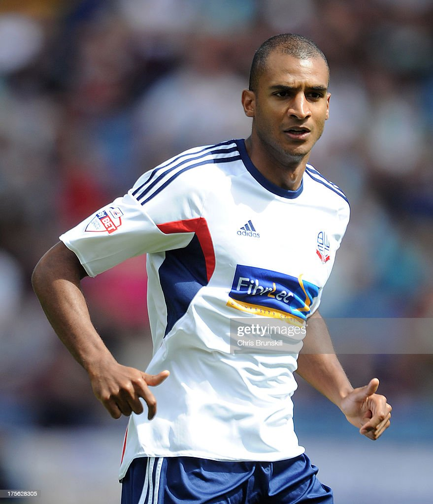 David Ngog of Bolton Wanderers in action during the Sky Bet Championship match between Burnley and Bolton Wanderers at Turf Moor on August 03, 2013 in Burnley, England.