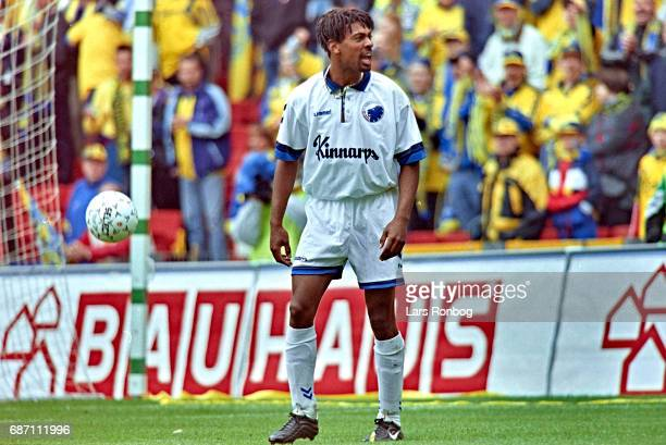 David Nielsen of FC Copenhagen shows frustration during the Danish Cup Final Compaq Cup match between FC Copenhagen and Brondby IF at Parken Stadium...
