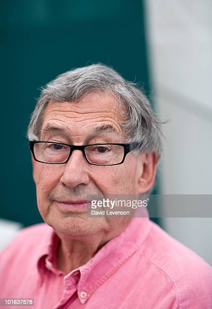 David Nobbs author of the Reginald Perrin novels poses for a portrait at The Hay Festival on June 5 2010 in HayonWye Wales