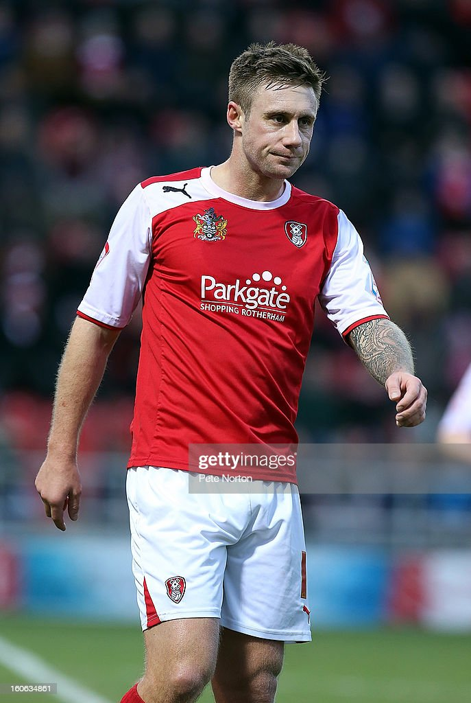 David Noble of Rotherham United in action during the npower League Two match between Rotherham United and Northampton Town at New York Stadium on February 2, 2013 in Rotherham, England.