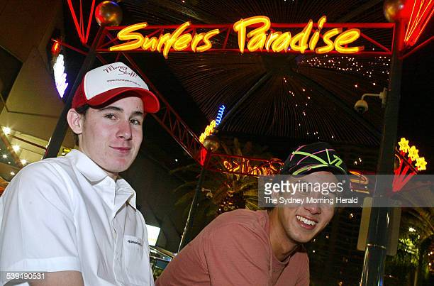 David Noonan and Eric Van Schaik will join up to 50000 teenagers for this year's schoolies week Gold Coast 12 November 2004 SMH Picture by ANDY ZAKELI