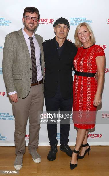 David Nugent Craig Gillespie and Anne Chaisson attend the red carpet for ' I Tonya' at Guild Hall during Hamptons International Film Festival 2017...